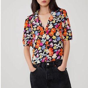 ZARA Floral Print Blouse 🌸